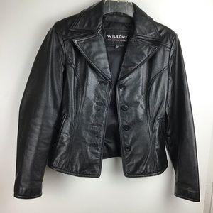 WILSONS LEATHER Woman's Black Blazer Jacket